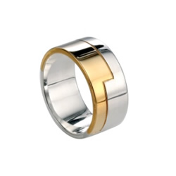 Mens Gold and Silver Ring
